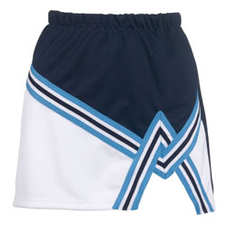 Teamwork Cheer Skirt 4081 2 Color A-Line With Trim Girls
