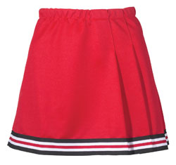 Teamwork Athletic Cheer Skirt 4080 3-Pleat With Trim Girls