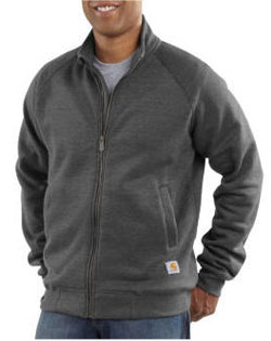 Carhartt Sweatshirt Zip-Front Mock Neck Midweight Mens