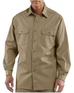 Carhartt Shirt Long-Sleeve Twill Work Mens