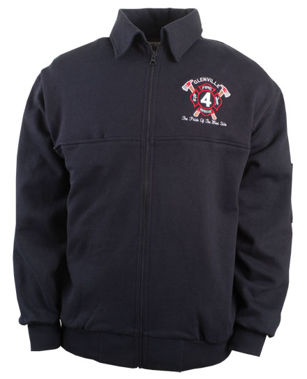 Firefighters Workshirt Full Zip Mens