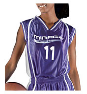 Womens eXtreme Dazzle Reversible Basketball Game Jersey
