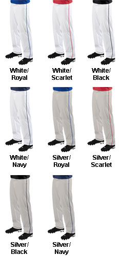 Adult 12 oz. Big Show Piped Baseball Pant - All Colors