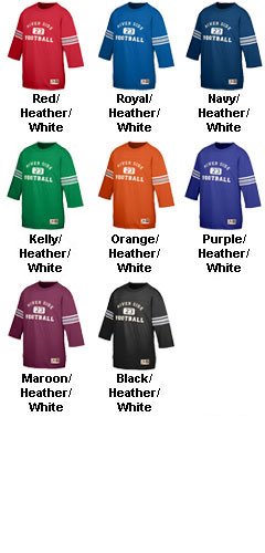 Adult Old School Football Jersey T-Shirt - All Colors