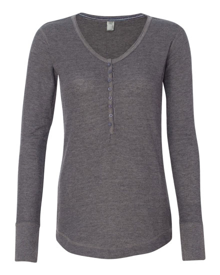 J. America Thermal Henley Ladies