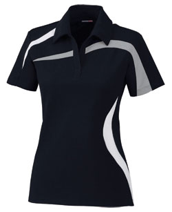 Performance Color-Block Polyester Pique Polo - Ladies