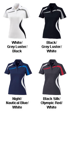 Ladies Performance Polyester Pique Color-Blocked Polo - All Colors