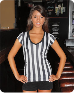 Referee Tee Deep V-Neck Longer Length