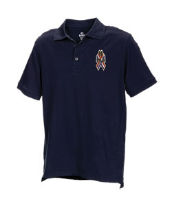 Station Polo with 9-11 Ribbon Mens