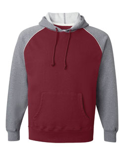 J. America - Hooded Sweatshirt Vintage with Contrast Color Sleeves Mens