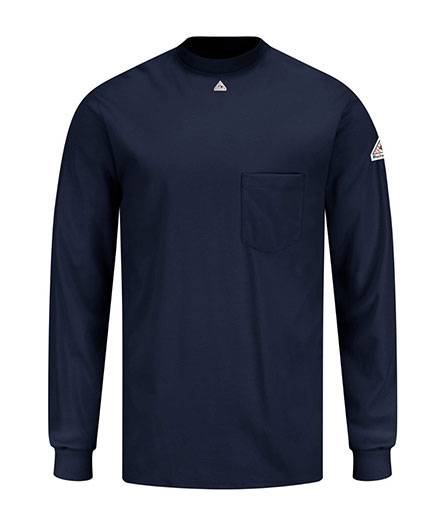 Bulwark Fire Resistant Knit Long Sleeve T-Shirt - Mens