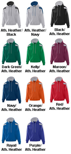 Adult Heavyweight Color Block Hooded Sweatshirt - All Colors