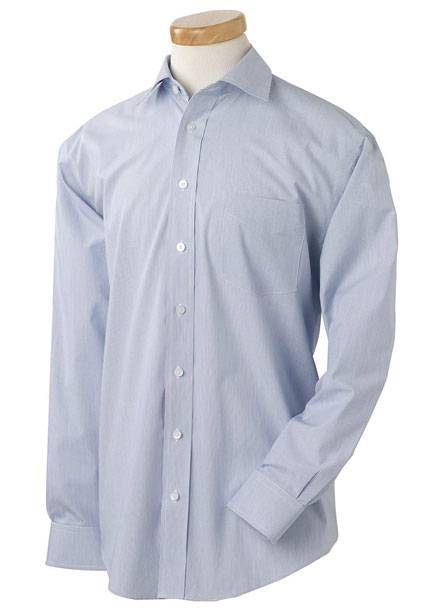 Performance Dress Shirt Executive Broadcloth With Spread Collar Mens