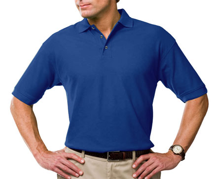 Moisture Wicking Polo with Stain Release Scotchguard Protection - Mens