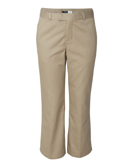 French Toast Plain Front Pant - Girls