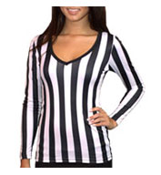 Brightline Ladies Long Sleeve V-Neck Referee Tee