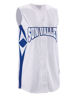 Teamwork Supernova Sleeveless Faux Full Button Softball Jersey - Womens