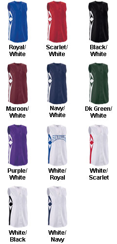 Girls Supernova Sleeveless Faux Full Button Softball Jersey - All Colors