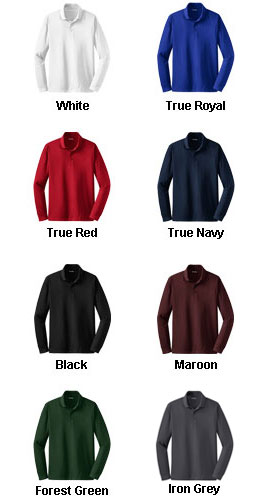 Long Sleeve Micropique Sport-Wick® Polo - All Colors
