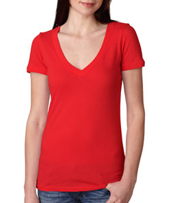 Deep V-Neck T-Shirt - Ladies