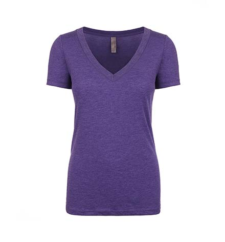 Deep V-Neck Tri-Blend T-Shirt - Ladies