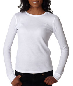 Thermal Long-Sleeve Soft Poly/Cotton Tee - Ladies