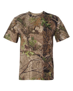 Camouflage T-shirt Realtree Short Sleeve