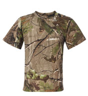 Youth RealTree Camouflage Short Sleeve T-shirt by Code V