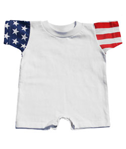 Jersey Romper Stars & Stripes Infant