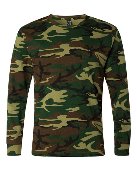 Camouflage Long-Sleeve T-shirt - Adult Mens