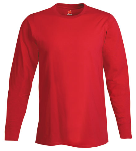 Hanes Long Sleeve 100% Ringspun Cotton Nano-T® T-Shirt - Mens