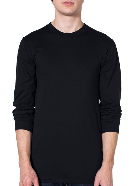 American Apparel Organic Long Sleeve Fine Jersey T-Shirt - Mens
