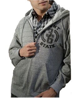 Sweatshirt Full Zip SOHO Printed Mens