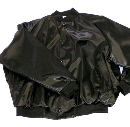 Baseball Jacket Pro-Satin With Solid Trim And Kasha-Lining Adult Mens