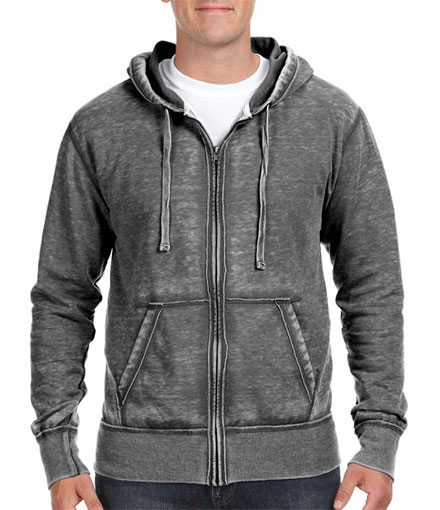 Hooded Full Zip Vintage Zen Fleece Sweatshirt - Mens