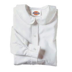 Dickies Blouse Long Sleeve Peter Pan Collar Girls