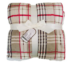 Throw Blanket Lambswool Microsherpa Plaid