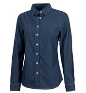 Womens Straight Collar Chambray Shirt by Charles River