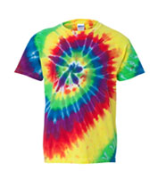 Gildan Youth Tie-Dye Neon Pigment-Dyed Spiral Tee