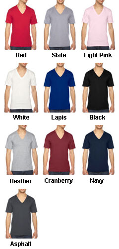 American Apparel Fine Jersey Short Sleeve-V-Neck Tee - All Colors