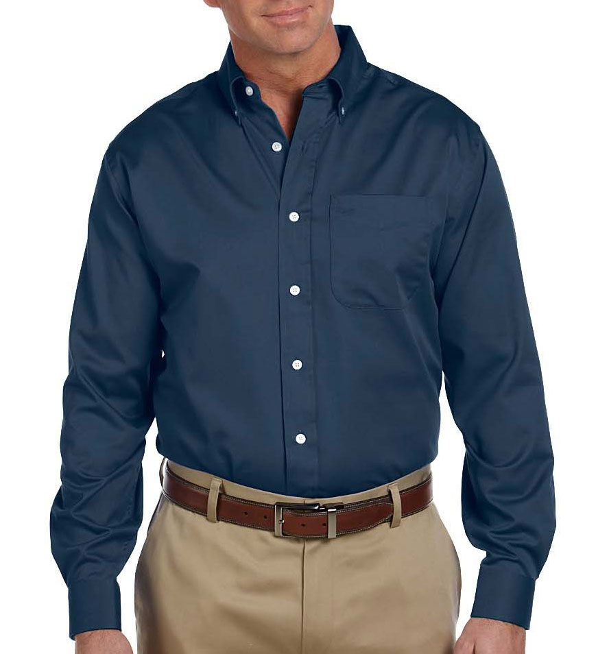 custom mens pima cotton twill dress shirt by devon and jones