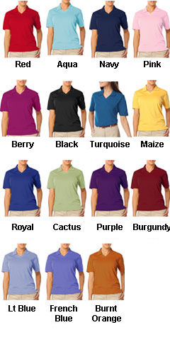 Ladies Superblend V-Neck Pique Polo  - All Colors