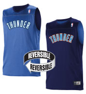 Team NBA Oklahoma City Thunder Adult Reversible Jersey