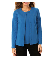 Ladies Long Sleeve Button Front Cardigan