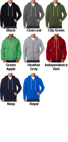 Anvil Mens Fashion Full-Zip Hooded Sweatshirt - All Colors