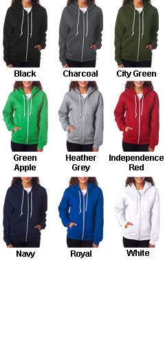 Anvil Ladies Fashion Full-Zip Hooded Sweatshirt - All Colors
