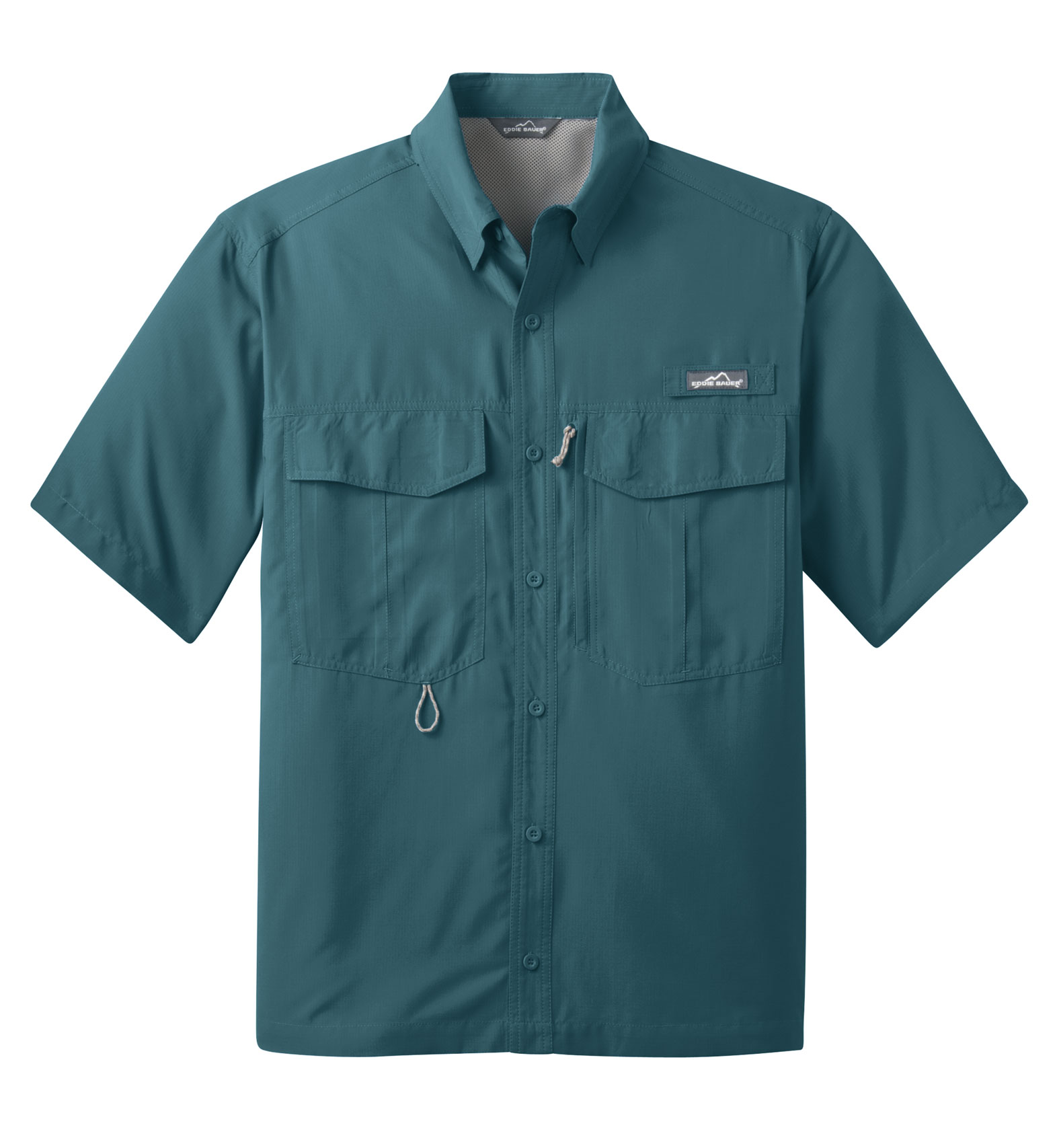 custom eddie bauer short sleeve performance fishing shirt