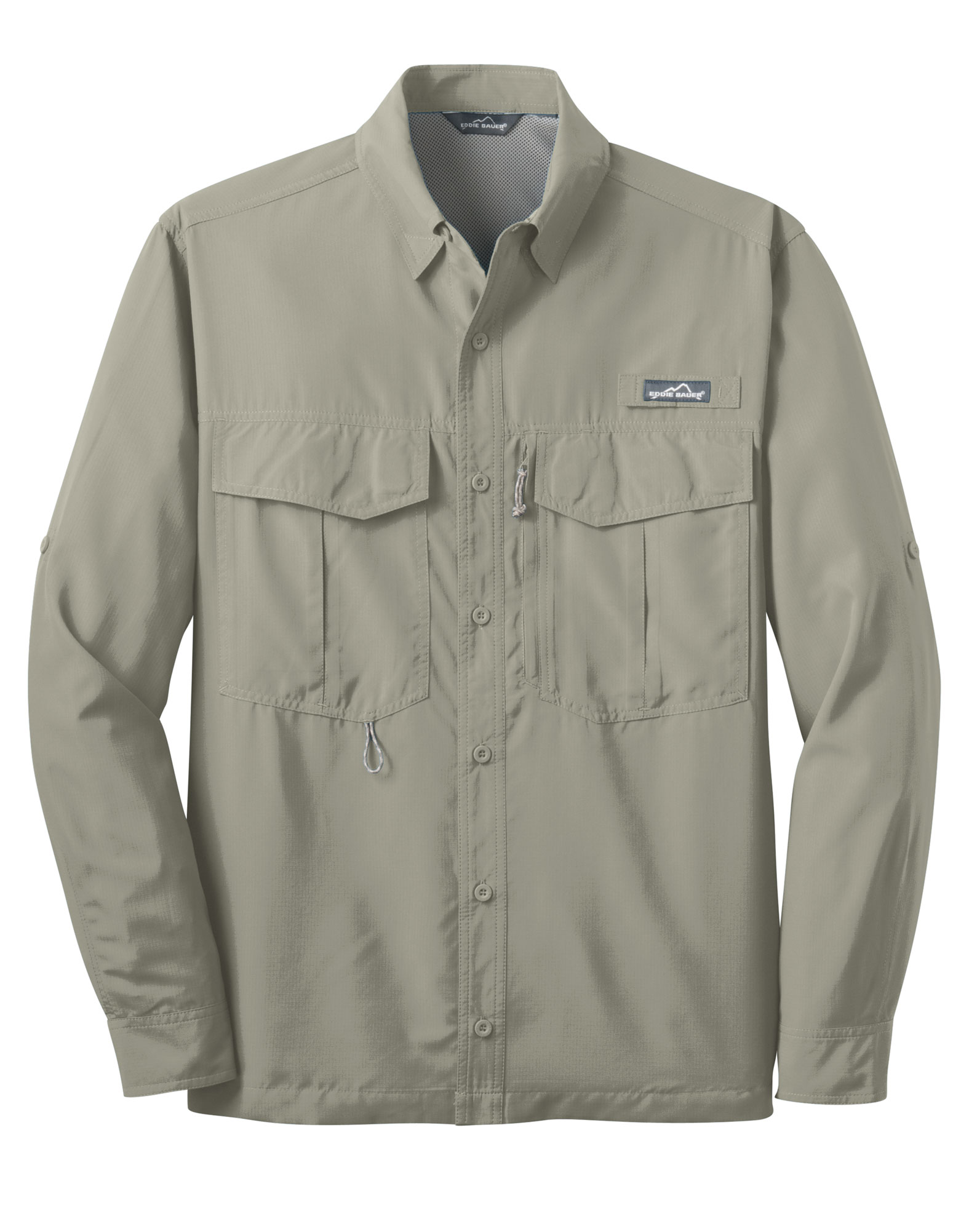 custom eddiebauer long sleeve performance fishing shirt