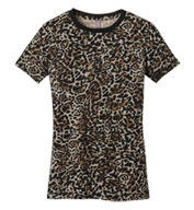 Ladies Perfect Weight Camo Crew Neck T-shirt
