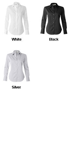 Calvin Klein Ladies Pure Finish Cotton Shirt - All Colors
